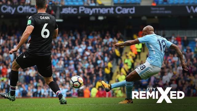 FAB FABIAN: The midfielder struck a wonderful effort in off the crossbar against Crystal Palace