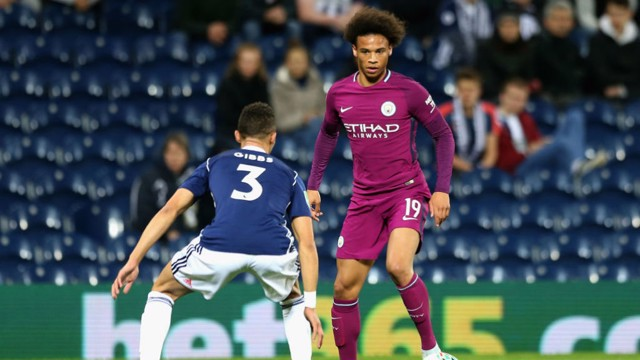 IN SANE: Leroy bagged a Carabao Cup double to secure City's fourth round place