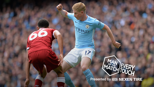 SUPER KEV: KDB looked back to his best against Liverpool