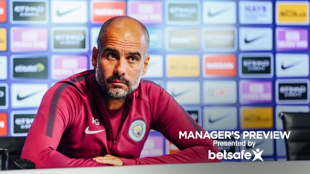 PEP PRESSER: Guardiola addresses the media about Saturday's clash with Chelsea