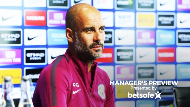 PEP PRESSER: Guardiola sits down in front of the media to discuss our visit to Vicarage Road on Saturday.