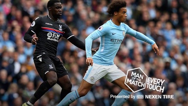 IN-SANE: Leroy Sane produced a dazzling display against Crystal Palace
