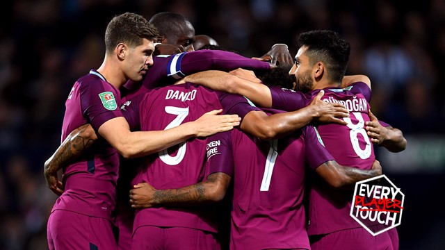 BEAUTIFUL FOOTBALL: City scored an outstanding goal in the Carabao Cup win over West Brom on Wednesday