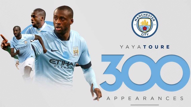 LANDMARK: Yaya Toure has chalked up his 300th appearance for Manchester City
