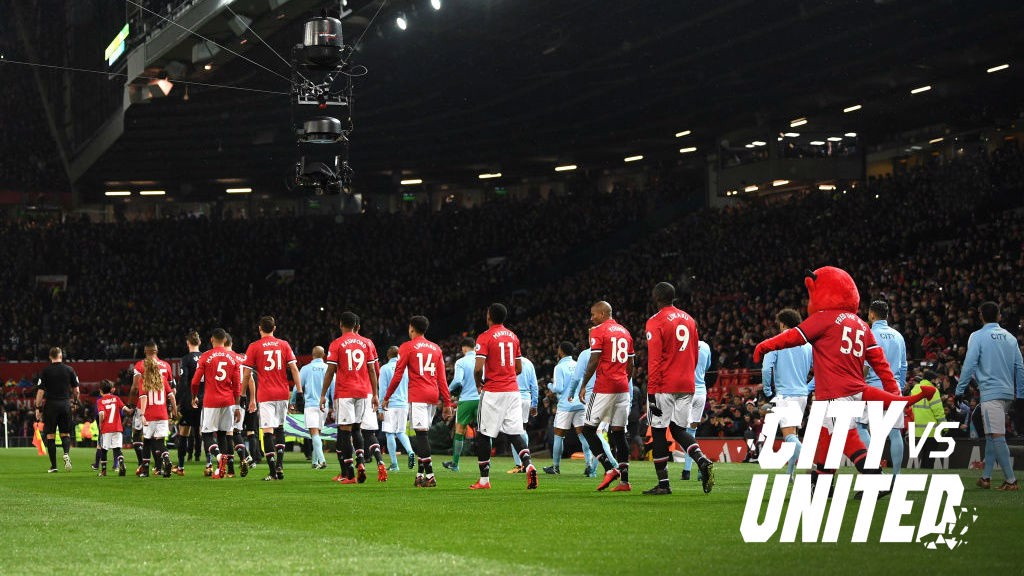 What TV channel is City v United on?
