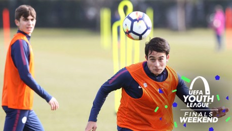 FAMILIAR FACES: Eric Garcia will face his old club Barcelona in the UEFA Youth League semi-final.