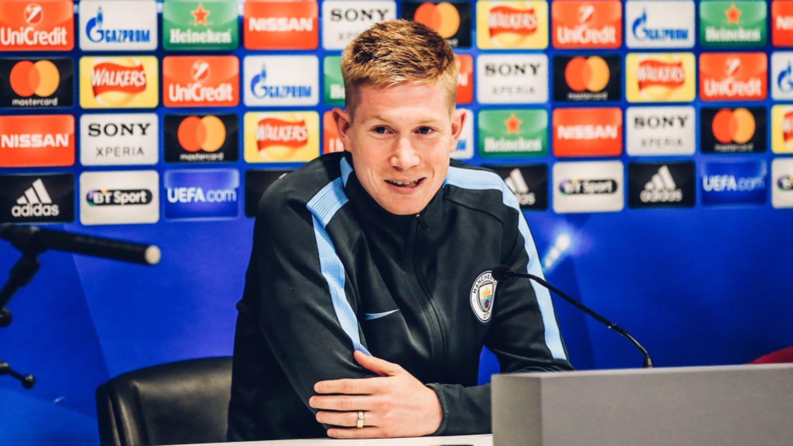 KDB: De Bruyne speaks ahead of City's Champions League clash.