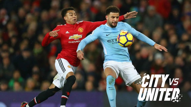 DERBY DAY: Kyle Walker is aware of what a win over United would mean to the City fans