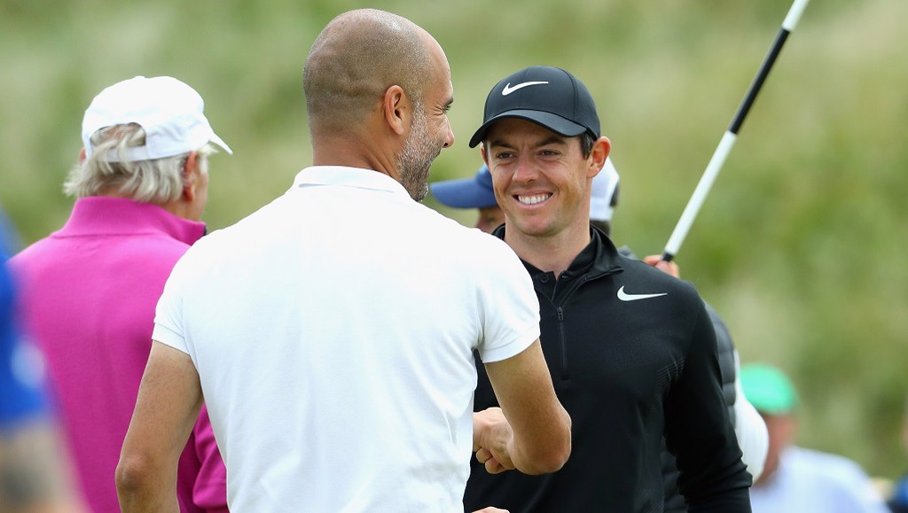 PEP AND RORY MCILLROY: Tee time