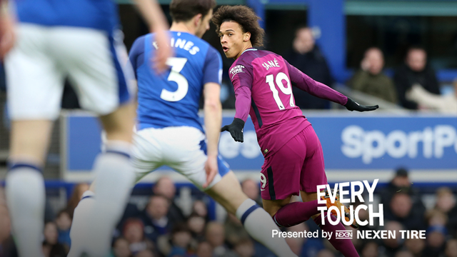 IN-SANE: Leroy Sane produced an electric performance at Everton