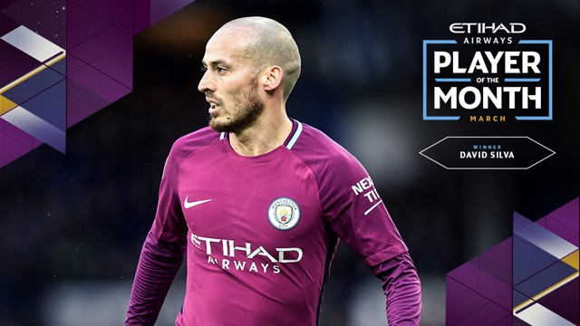 PLAYER OF THE MONTH: David Silva.
