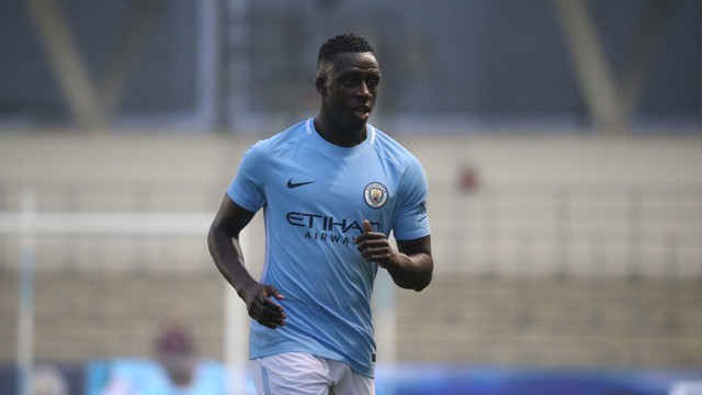 FIGHTING FIT: Benjamin Mendy played his first competitive game since injury for the EDS against Manchester United.