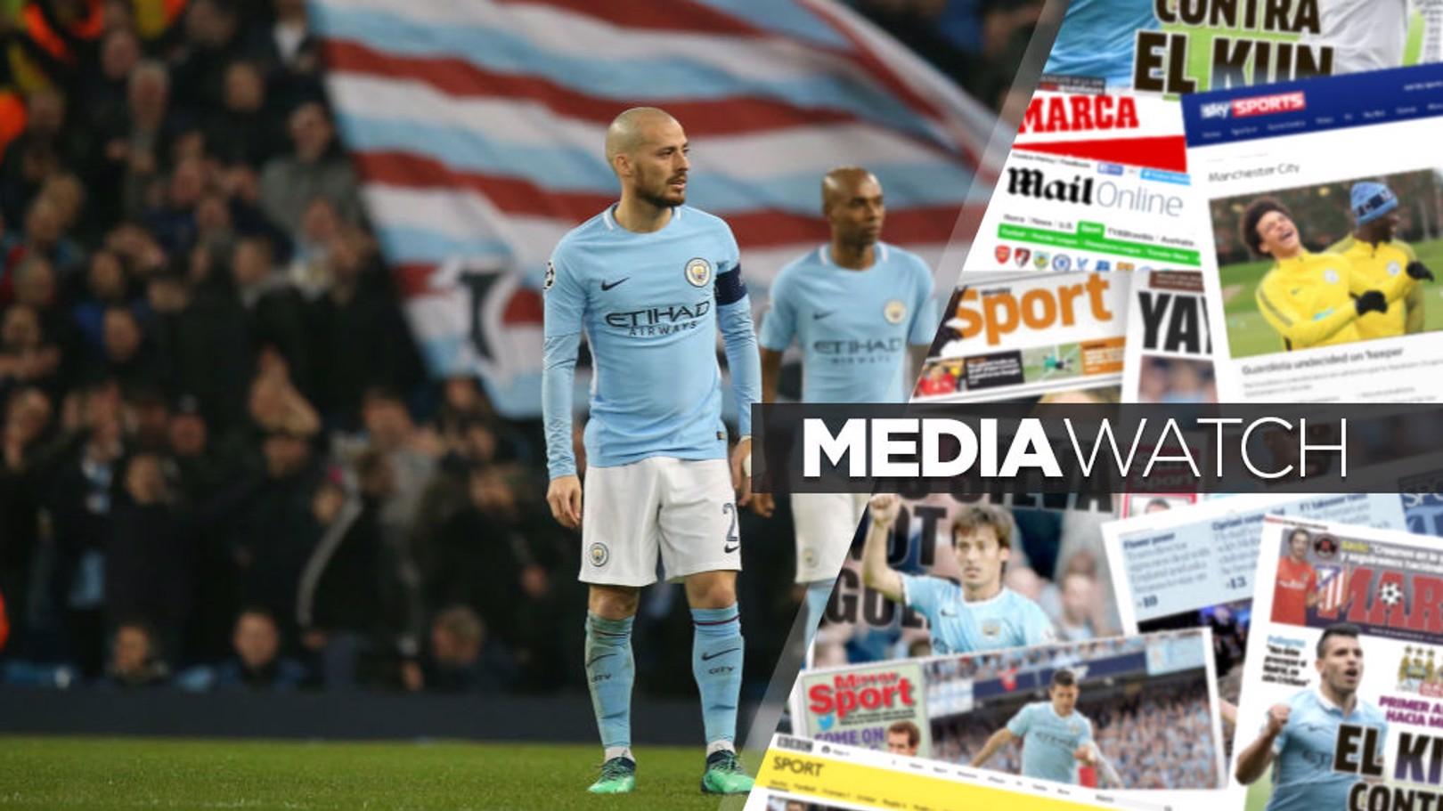 متابعة وسائل الإعلام بعد خروج مانشستر سيتي من دوري أبطال أوروبا.