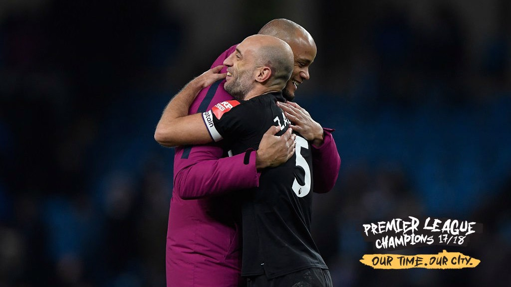 OLD PALS: Vincent and Zaba from the first reunion at the Etihad