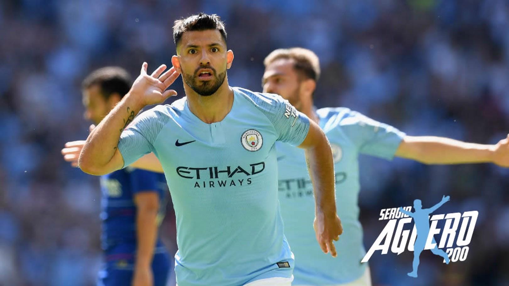LEYENDA. 200 goles de Sergio con el City.
