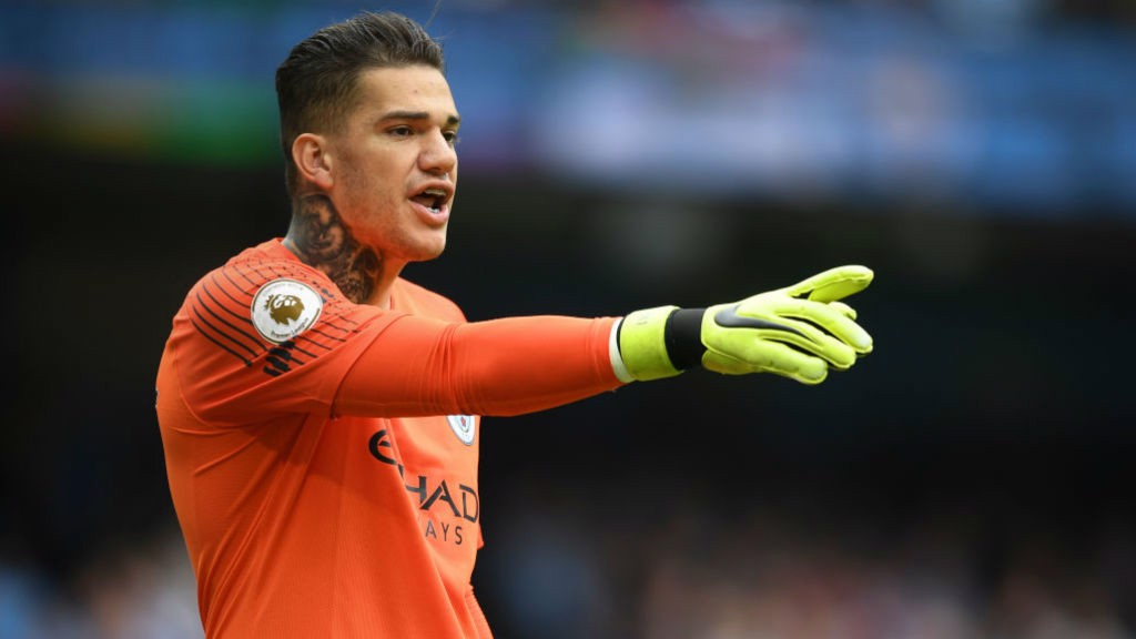 58528c623fe STEADY EDDIE: Ederson has spoken of his delight at setting up his first City  goal