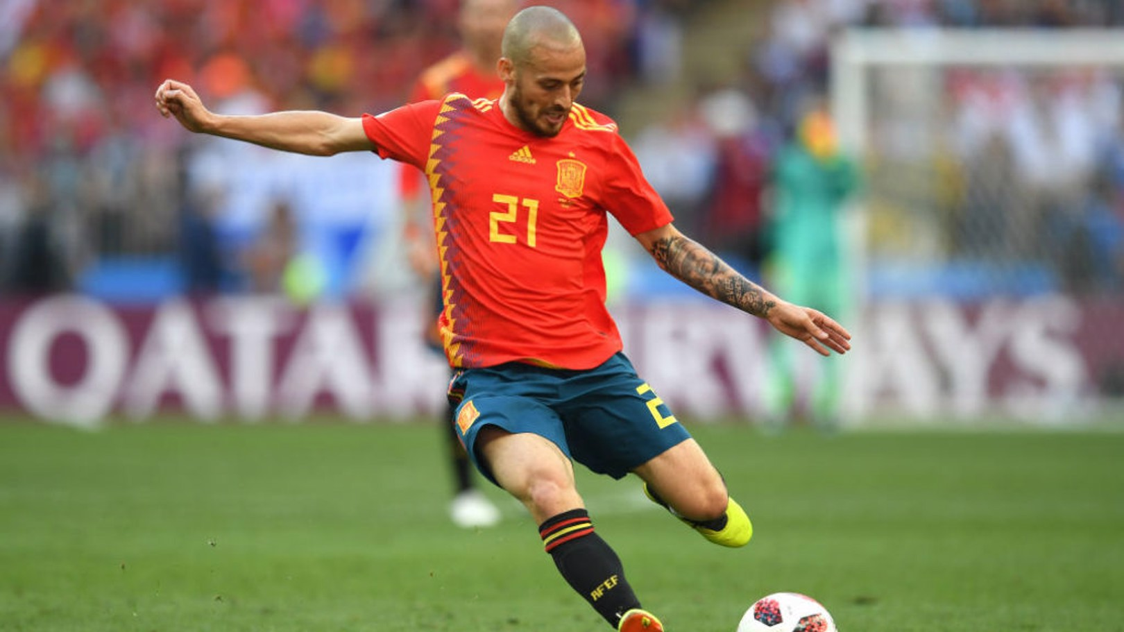 SILVA SERVICE: David has retired from international football having made 125 appearances for Spain