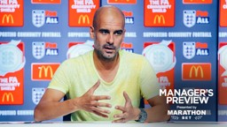 READY FOR THE CHALLENGE: Pep Guardiola