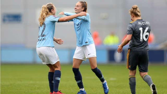 CUP DELIGHT: Manchester City Women secured an excellent Continental Cup win over Leicester at the weekend