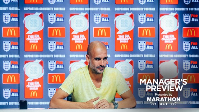 PEP GUARDIOLA: Pre-Community Shield press conference.