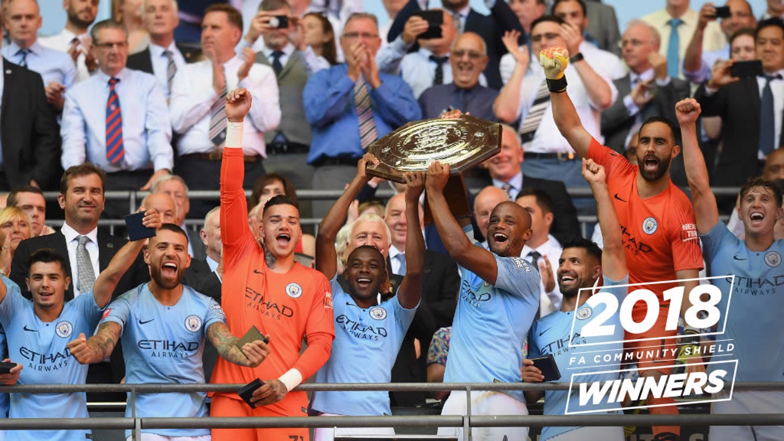 SILVERWARE! City celebrate Community Shield success