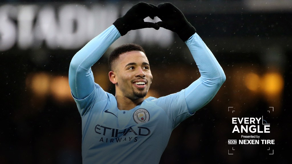 EVERY ANGLE: Gabriel Jesus' strike against Everton in focus