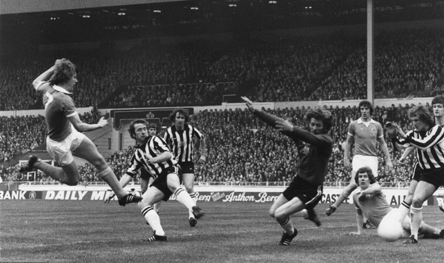 1976: Peter Barnes becomes City's youngest ever goal-scorer at Wembley as he fires home during a 2-1 win over Newcastle United