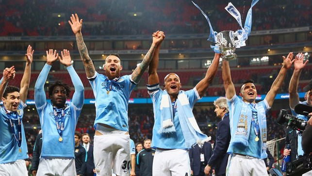 2016: Champions! The team celebrates with 30,000 City fans