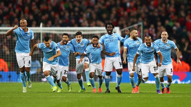 2016: We've done it! The players rush to congratulate penalty shoot-out hero Willy Caballero