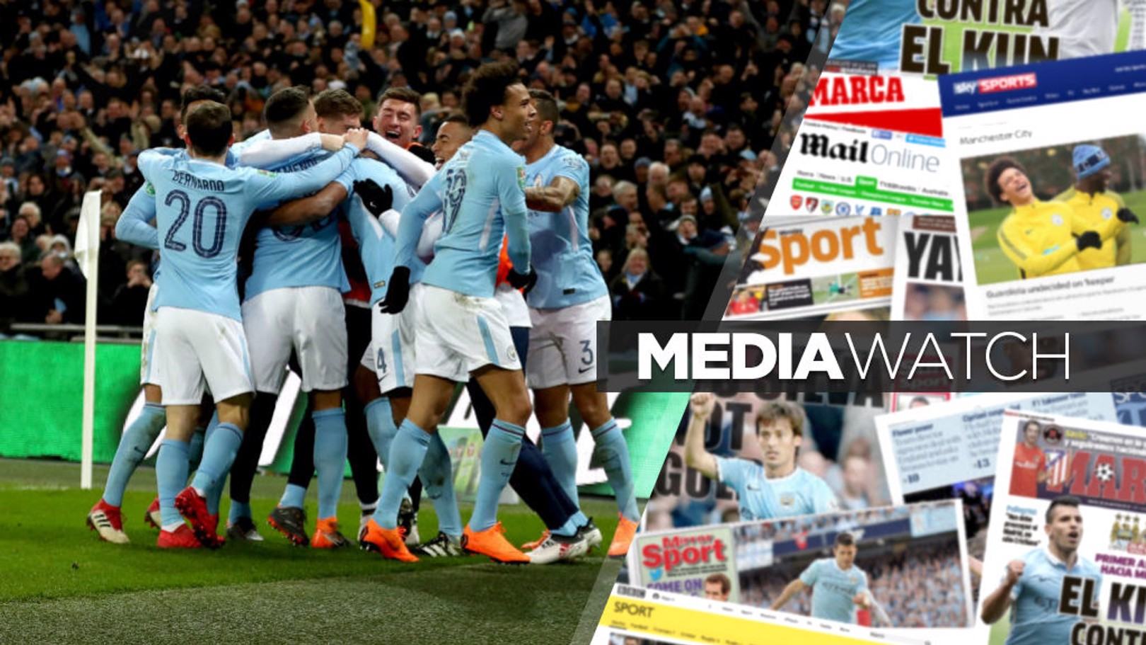 REACTION: City have received plenty of plaudits for the Carabao Cup win.
