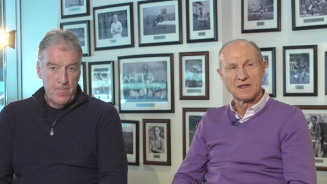 LEGENDS: Tommy Booth and Dennis Tueart remember their League Cup final experiences.