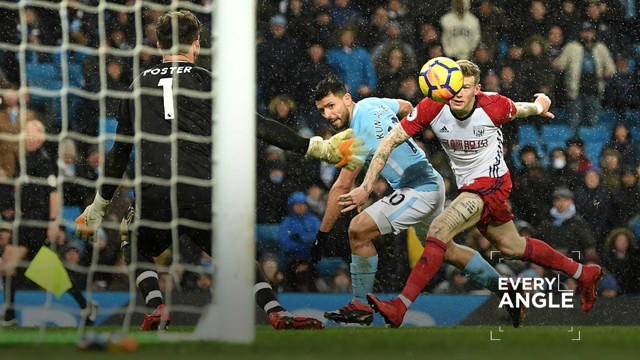 EVERY ANGLE: Sergio Aguero's goal against West Brom.