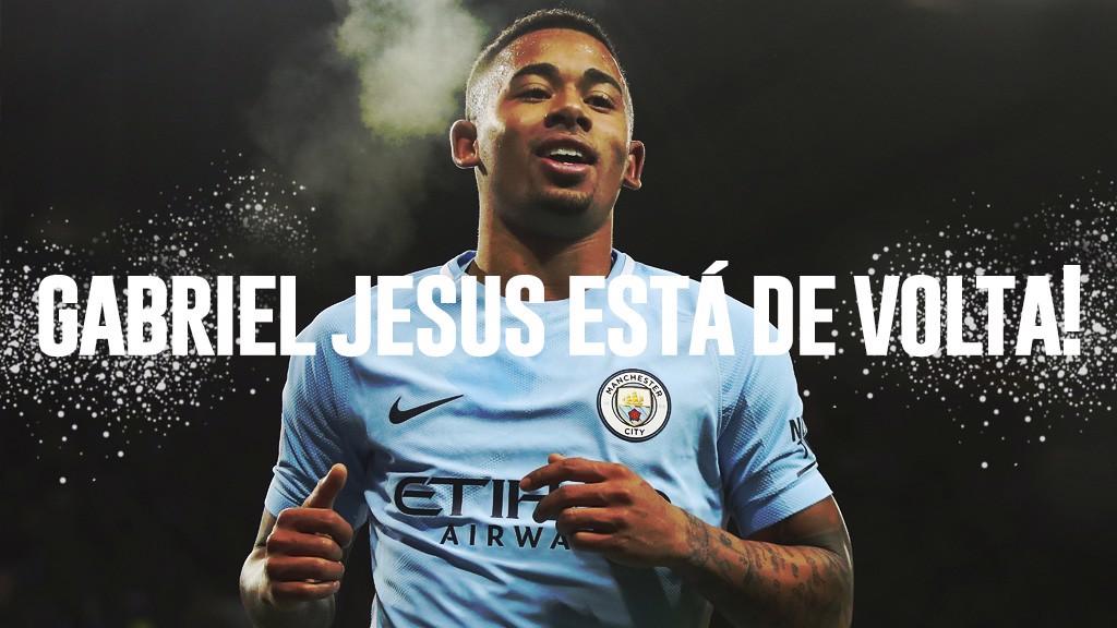 Gabriel Jesus de volta aos treinos
