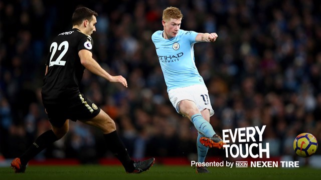 EVERY TOUCH: Kevin De Bruyne v Leicester.