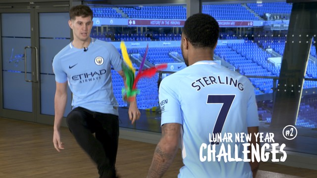 LUNAR NEW YEAR: Stones and Sterling compete in second challenge.