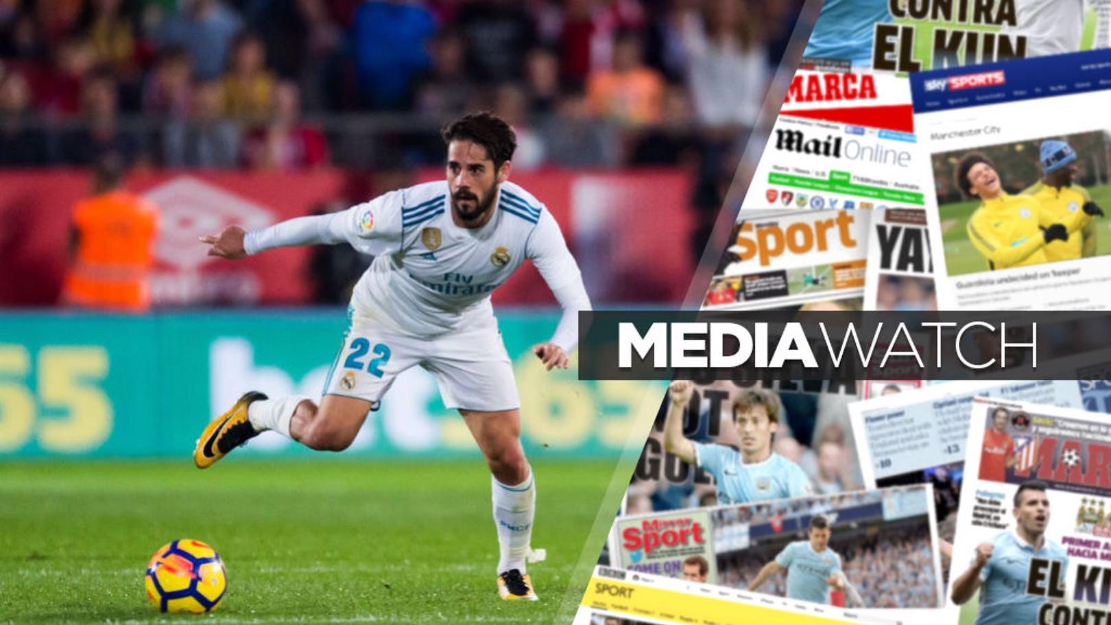 صحف إسبانية أشارت إلى إمكانية انضمام إيسكو إلى مانشستر سيتي في الصيف المقبل.