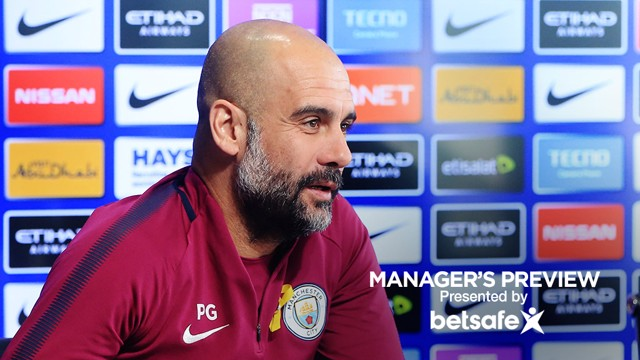PRESS CONFERENCE: Pep Guardiola addresses the media ahead of the game...