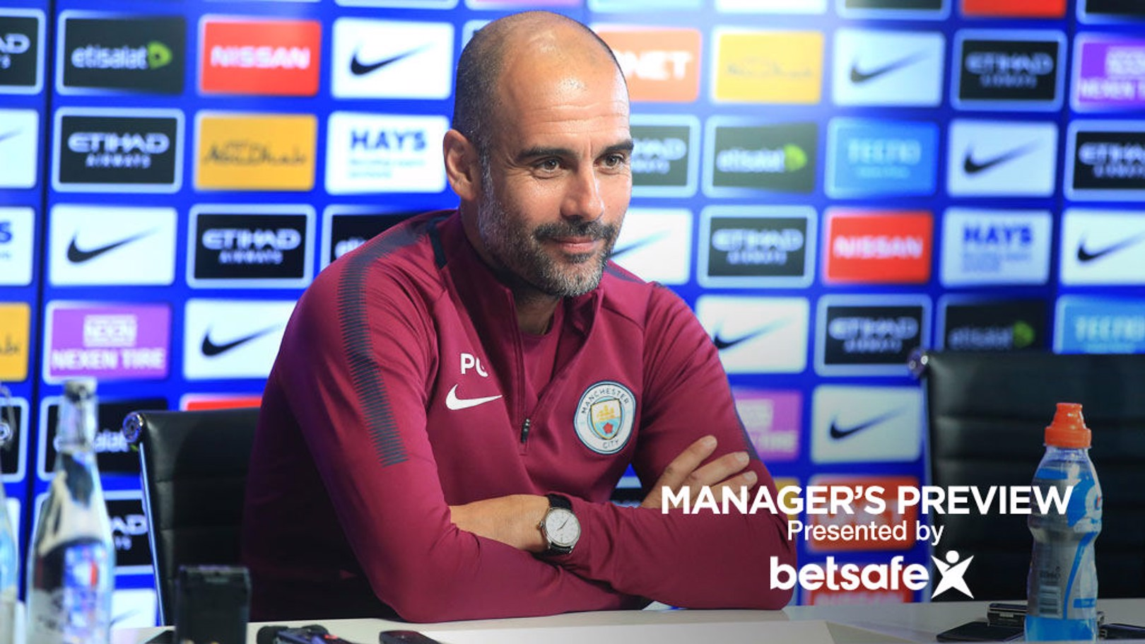 PRESS CONFERENCE: Pep Guardiola chats to journalists before Saturday's game with Leicester.