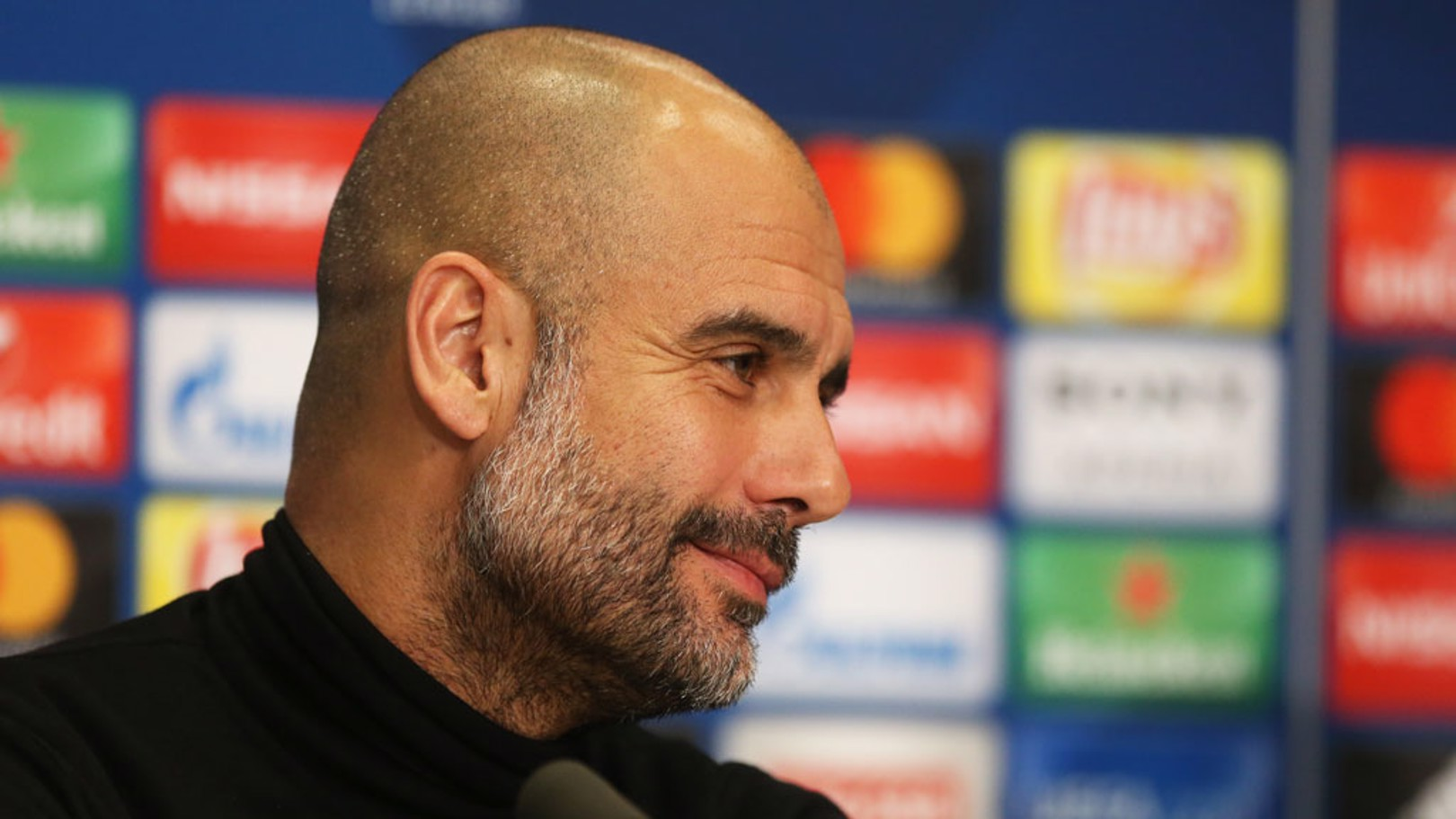 PREVIEW: Pep Guardiola chats to the media ahead of the Champions League game against FC Basel.