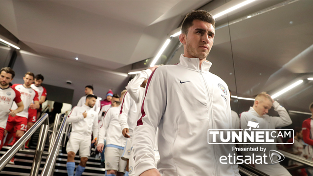 TUNNEL CAM: Behind the scenes during City's 3-0 win over West Brom.