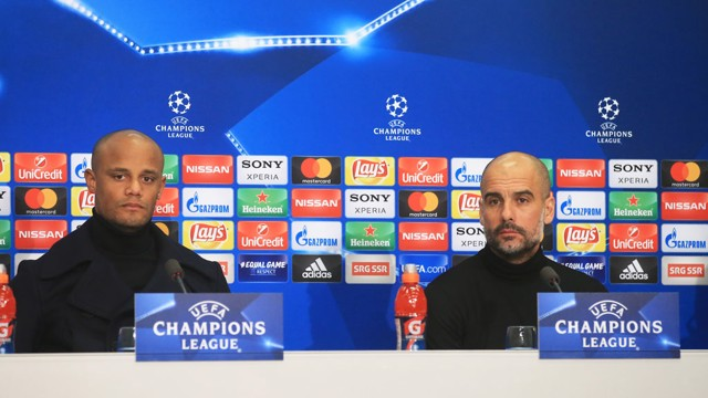 LEADERS: The boss and the skipper face the media ahead of FC Basel.