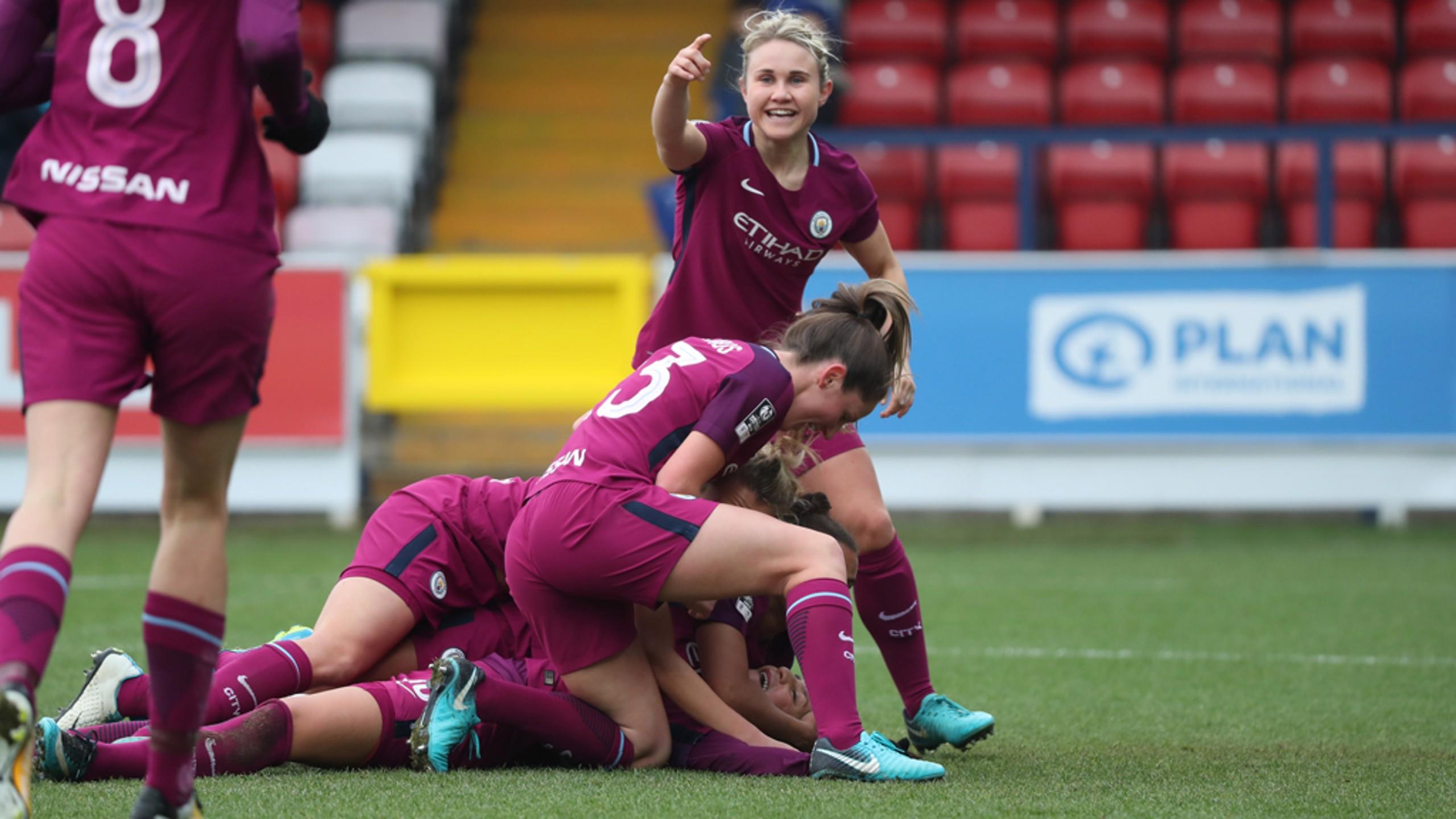 Nadia Nadim ha marcado en los dos partidos que ha jugado con el Man City Women.