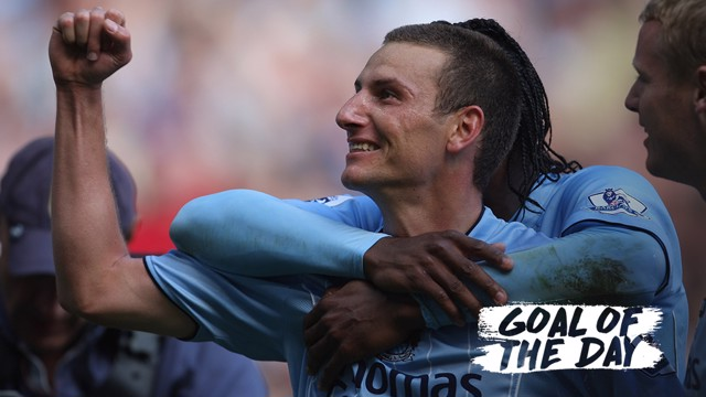 FREE KICK KING: Elano scores a beauty of a free-kick against Newcastle