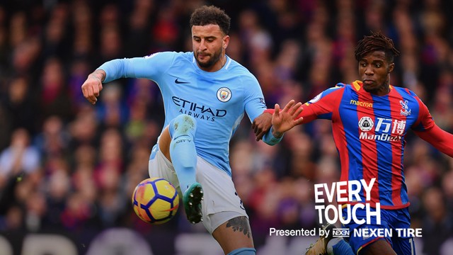 Every Touch: Kyle Walker v Crystal Palace