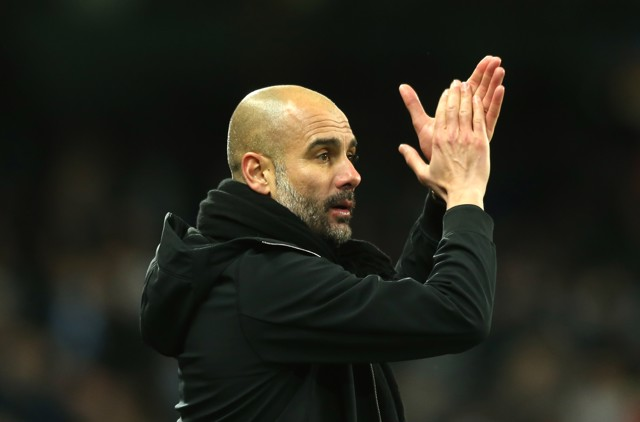 CLAP: Pep Guardiola praises his team after a win against Burnley