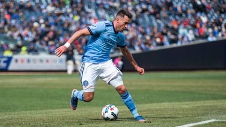 IN ACTION: Jack Harrison on the ball for New York City.