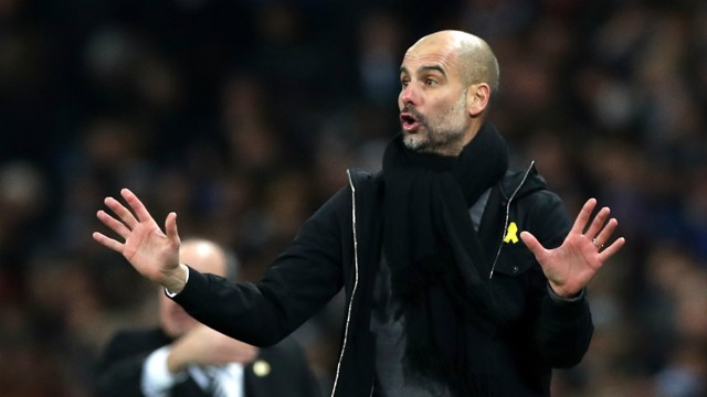 FOCUS: Pep Guardiola instructs from the sidelines against Newcastle.