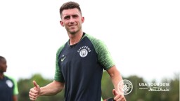 THRIVING: Aymeric Laporte says he is already reaping the benefits of working under Pep Guardiola, and playing 'the City way'
