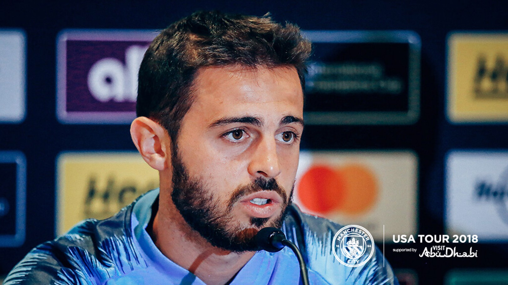 PRESS CONFERENCE: Bernardo Silva addresses the media ahead of City's game with Liverpool...