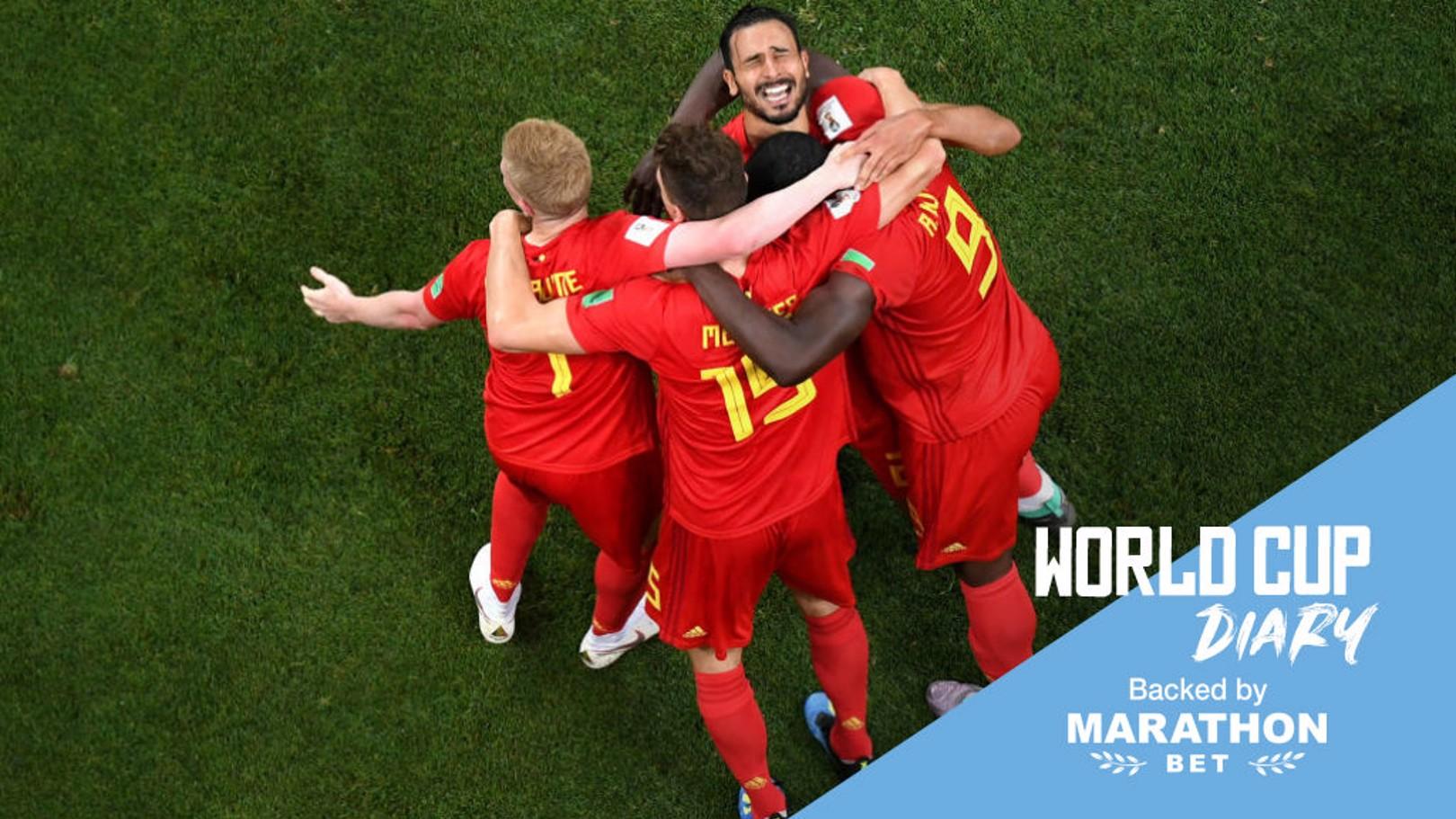 Bélgica celebra el gol de la victoria.